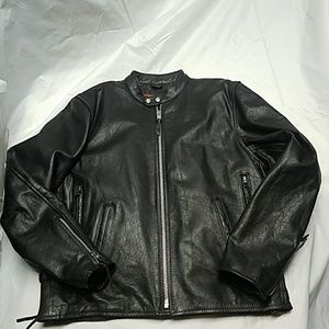 Mens Interstate Leather motorcycle jacket